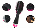 Electric Hot Air Comb Curly Hair one step hair dryer Brush for Hair Curler