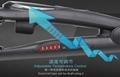 2IN1 BLACK STEAM HAIR STRAIGHTENER NANO TITANIUM-PLATED