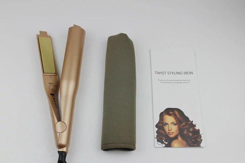 TYME Hair Styler Flat Iron Gold Plated Titanium Wholesale Price 2