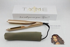 TYME Hair Styler Flat Iron Gold Plated Titanium Wholesale Price