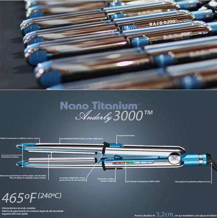 Nano Titanium Prima 3000 Styling Iron Babyliss Pro Hair Straightener