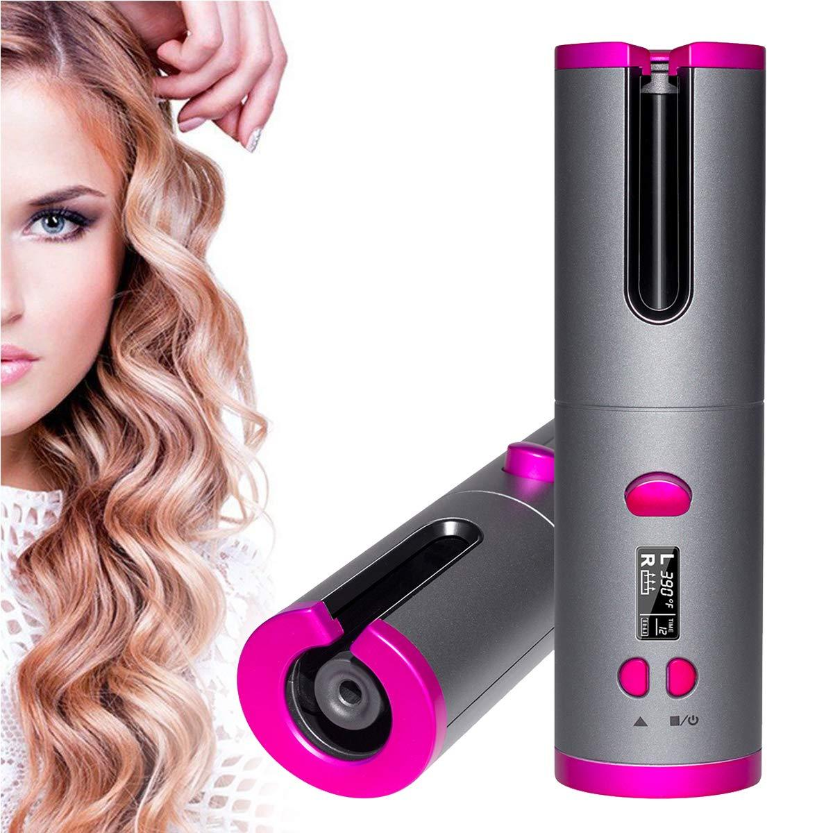 USB Charger Hair Styling Iron Wireless Automatic Hair Curler