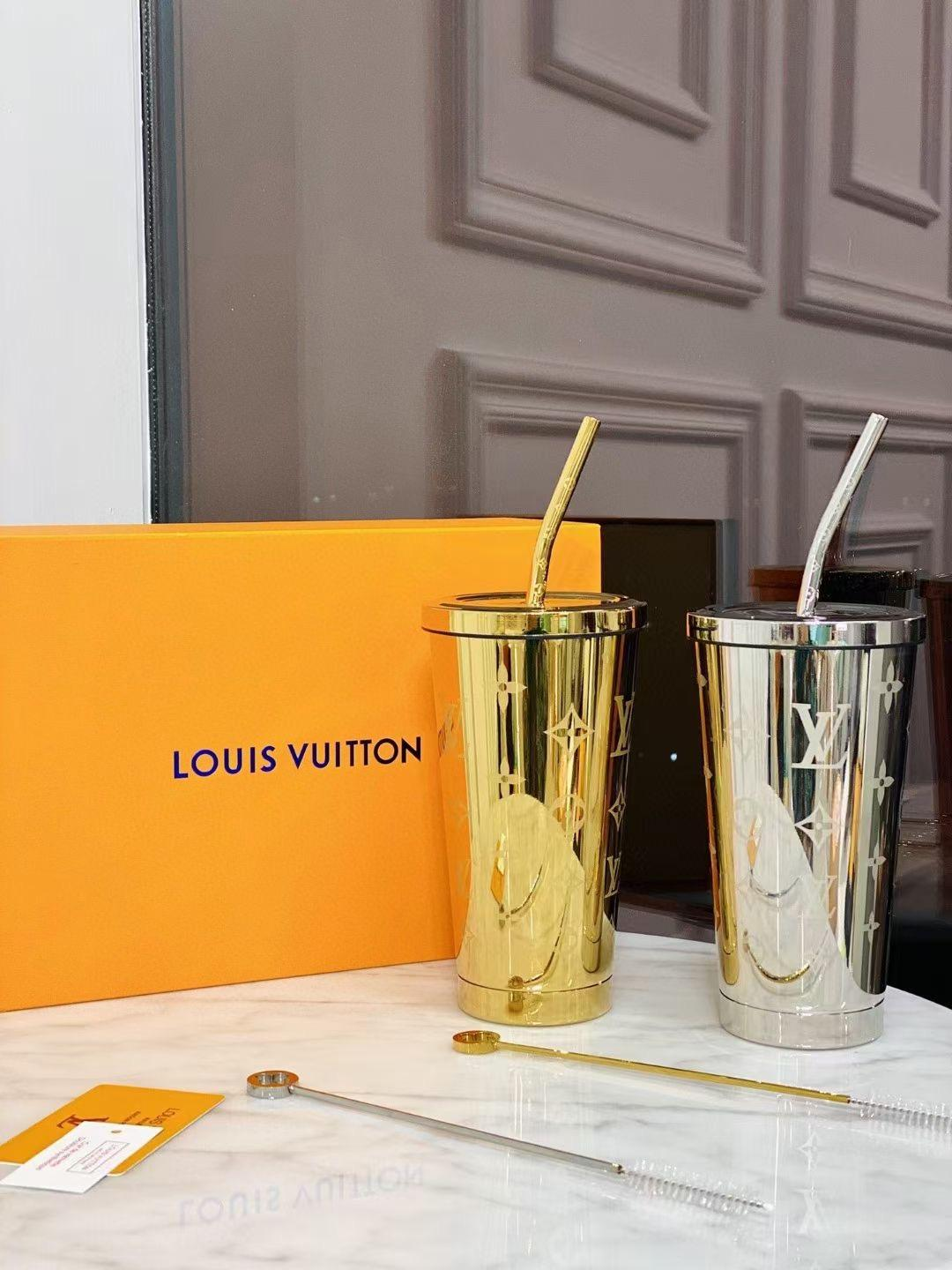 Louis Vuitton Gold Stainless steel Cup discount