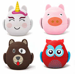 Factory Price Creative Mini Cartoon Animals Bluetooth Speaker OEM/ODM
