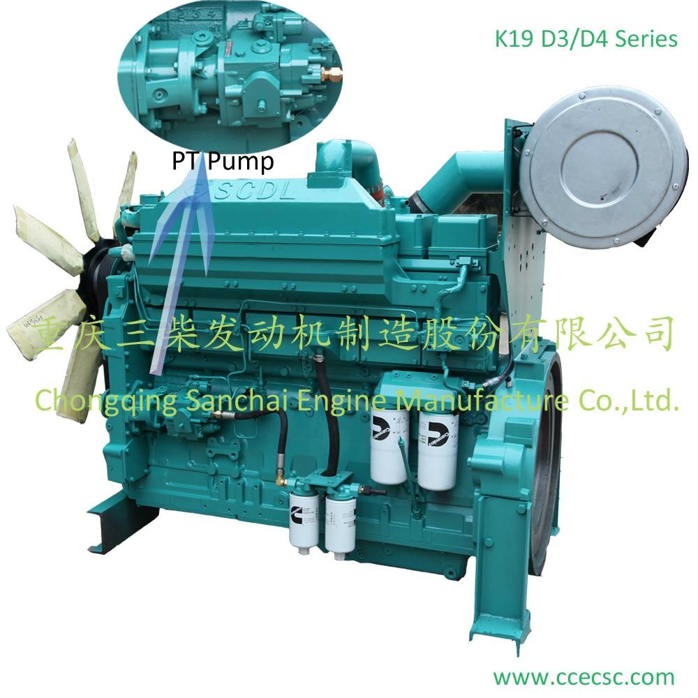ISO 9001 CE Approved K19-D Series Water Cooled Generator Use Diesel Engine 2