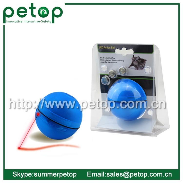 Plastic Outdoor sport magic led pets cat ball toy 5