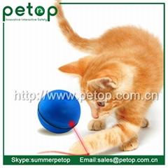 Plastic Outdoor sport magic led pets cat ball toy