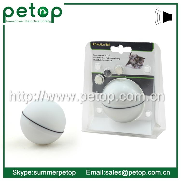 Wholesale Interactive Automatic Electric LED Action Ball Cat Toy 2