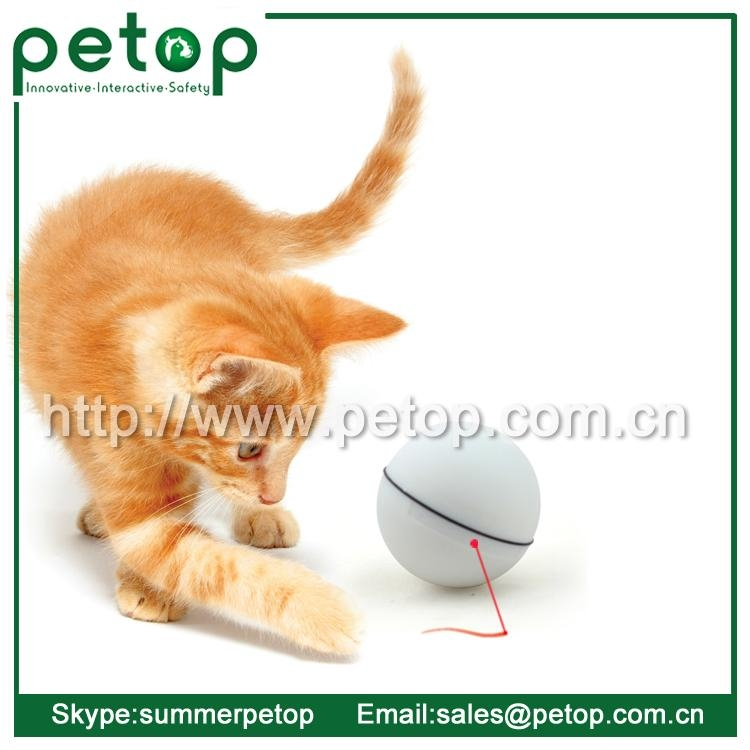 Wholesale Interactive Automatic Electric LED Action Ball Cat Toy 5
