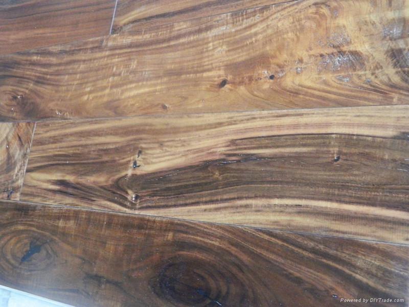 Best quality solid small leaf Acacia wood flooring  3