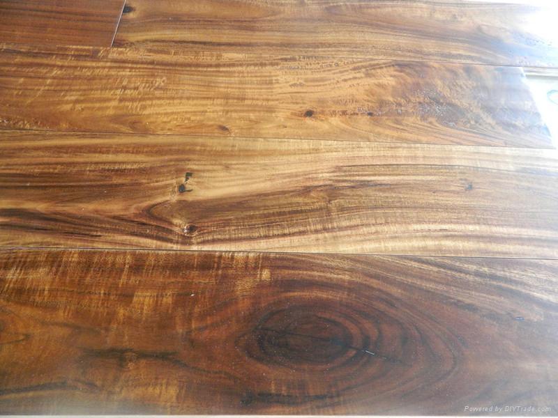 Best quality solid small leaf Acacia wood flooring  4