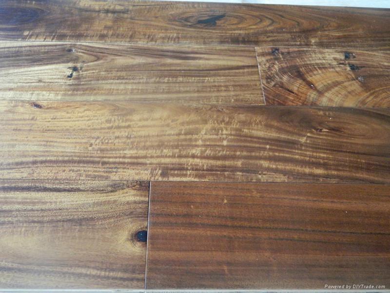 Best quality solid small leaf Acacia wood flooring  1