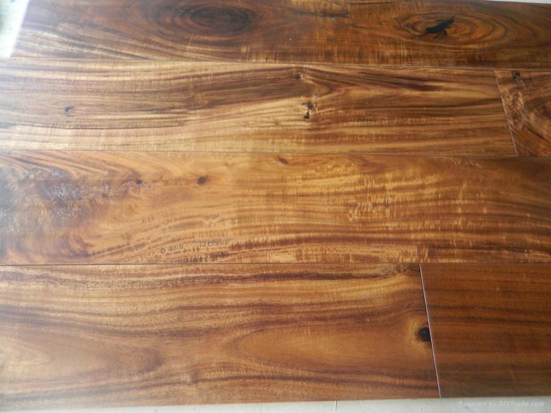 Best quality solid small leaf Acacia wood flooring  2