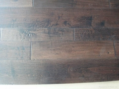 Handscraped maple engineered wood flooring