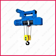 Wire rope electric hoist for crane