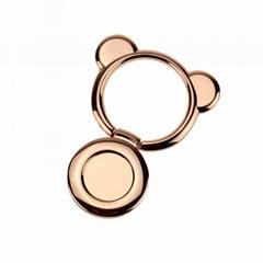 bear metal finger ring holder