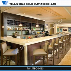 TW Artificial stone coffee counter furniture bar counter