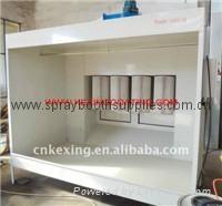 single work position powder coating spray booth cabin