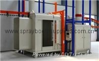 two work position powder coating spray paint booth cabin