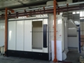 PVC powder coating booth fas color