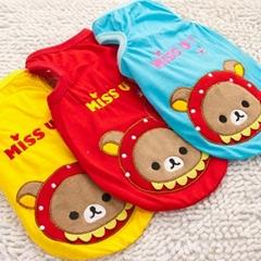 Pet Miss U Dog T--Shirt With Cut Bear Design Pet Apparel