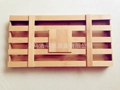Green bamboo wood  chocolate box