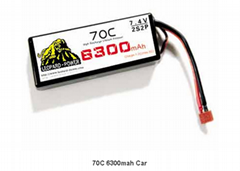 LiPo battery 70C 6300mah Car &RC model