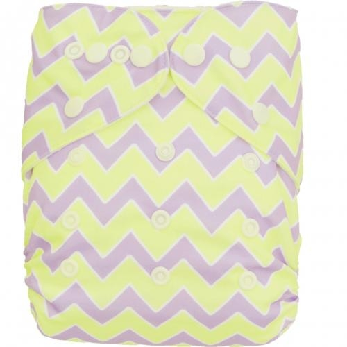 One Size Cute Bamboo Fitted Diaper Sewn With 3-layer Bamboo Insert  3
