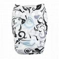 Prefold Cloth Diaper With Microfiber