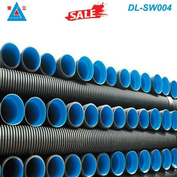 large diameter sn4 800mm pe drainage pipe hdpe double wall corrugated plastic pi 2