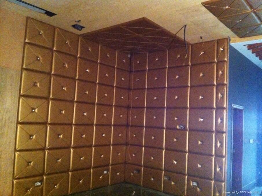 皮革吸音软包   吸音隔音材料 4