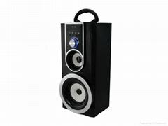 Best active sound-powered wooden speaker with FM radio/USB