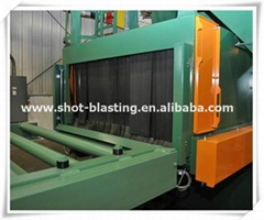 H Beam Steel Profile Roller Conveyor Shot Blasting Machine