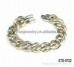 時尚雙色不鏽鋼手鏈