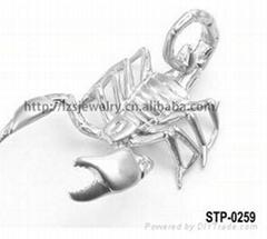 歐美流行304不鏽鋼立體大蠍子吊咀