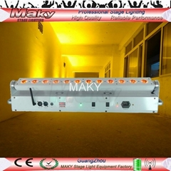 12 ledsx18w RGBAW+UV 6 IN 1 Rechargeable wireless DMX Battery led wall washer