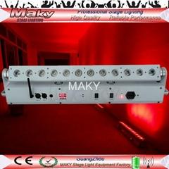 12ledsx18w RGBAW+UV Wedding led up lights,wireless dmx wall washer