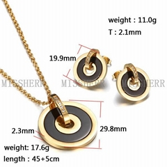 High quality statement necklace Gold Circle pendant jewelry