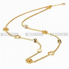 Cheap gold plating chain necklace jewellery NSSN180STGC