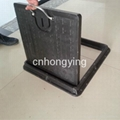 square bmc manhole cover with handle