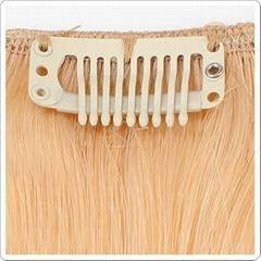 Top virgin Brazilian virgin hair Clip in hair extension