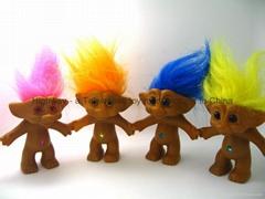 Vinyl Troll doll 10 cm
