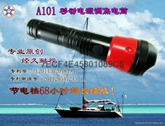 A101-01 Mobile power double light focusing flashligh