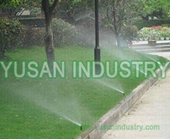 Plastic underground adjustable nozzle