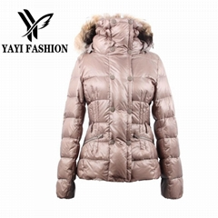 Double-breasted cotton thick filling high quality warm winter women outcoat
