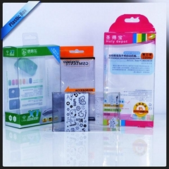 Printed plastic packaging box for sprays and led lights