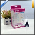 Clear PVC Packaging Box With Printing With Hanger On Top 2