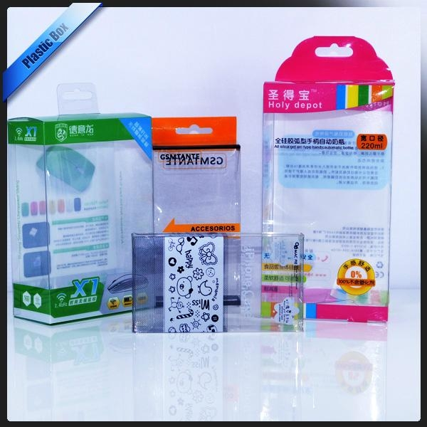 Clear PVC Packaging Box With Printing With Hanger On Top 1