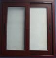sliding window woden color pvc sliding