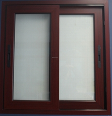 sliding window woden color pvc sliding window